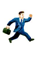 走るサラリーマン 10471000271| 写真素材・ストックフォト・画像・イラスト素材|アマナイメージズ