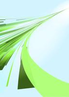 奥に伸びる緑の光のライン