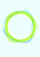 地球に見立てた緑と青の輪