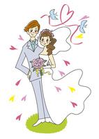 新郎新婦の二人 10471000277| 写真素材・ストックフォト・画像・イラスト素材|アマナイメージズ