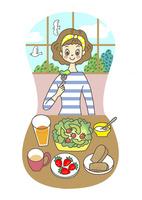 食事をする女性 10471000279| 写真素材・ストックフォト・画像・イラスト素材|アマナイメージズ