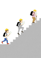 階段を登る人 10471000284| 写真素材・ストックフォト・画像・イラスト素材|アマナイメージズ