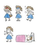 風邪をひいた女の子のいろいろなシチュエーション