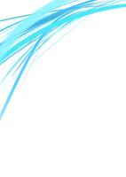 白背景の空間に浮かぶカラフルな水色のライン