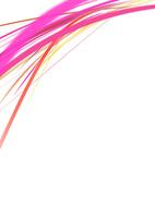 白背景の空間に浮かぶカラフルなピンク系のライン