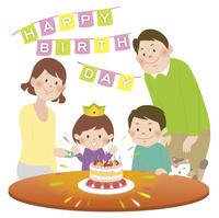 家族と誕生会 10471000341| 写真素材・ストックフォト・画像・イラスト素材|アマナイメージズ