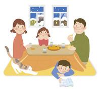 家族とこたつ1