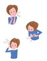 女性の病気 歯痛 腹痛 頭痛