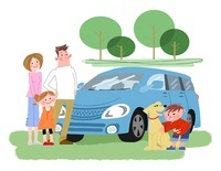 ドライブの家族 10473000013| 写真素材・ストックフォト・画像・イラスト素材|アマナイメージズ