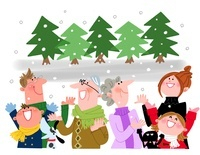 冬の家族 10473000025| 写真素材・ストックフォト・画像・イラスト素材|アマナイメージズ