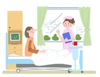 40〜50代女性の入院シーン 10473000039| 写真素材・ストックフォト・画像・イラスト素材|アマナイメージズ