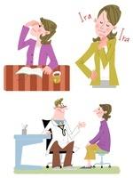 40〜50代女性の疲れ眼・イライラ・検診 10473000040| 写真素材・ストックフォト・画像・イラスト素材|アマナイメージズ