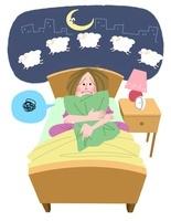 20〜30代女性の不眠 10473000041| 写真素材・ストックフォト・画像・イラスト素材|アマナイメージズ
