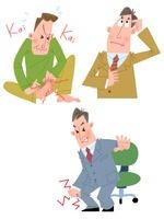 40〜50代男性の関節痛・もの忘れ・水虫 10473000046| 写真素材・ストックフォト・画像・イラスト素材|アマナイメージズ