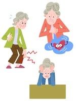 高齢者女性の動悸・関節痛・うつ