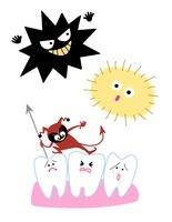 悪玉菌・花粉・虫歯 10473000049| 写真素材・ストックフォト・画像・イラスト素材|アマナイメージズ
