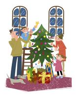 クリスマスの家族 10473000076| 写真素材・ストックフォト・画像・イラスト素材|アマナイメージズ