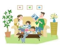 家族でワクワク 10473000081| 写真素材・ストックフォト・画像・イラスト素材|アマナイメージズ