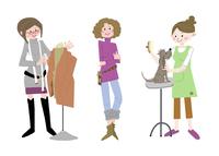 いろいろな職業 服飾デザイナー スタイリスト トリマー