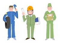 いろいろな職業 整備士 建設業者 宅配便 10473000084| 写真素材・ストックフォト・画像・イラスト素材|アマナイメージズ