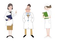 いろいろな職業 女性医師 医師 看護師