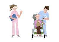 いろいろな職業 介護士 10473000092| 写真素材・ストックフォト・画像・イラスト素材|アマナイメージズ