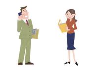 いろいろな職業 ビジネスマン オフィスレディ 10473000093| 写真素材・ストックフォト・画像・イラスト素材|アマナイメージズ