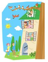 ご近所さん 10473000139| 写真素材・ストックフォト・画像・イラスト素材|アマナイメージズ