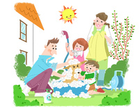 家族の休日 10473000140| 写真素材・ストックフォト・画像・イラスト素材|アマナイメージズ