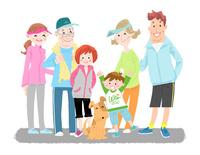 家族でスポーツ 10473000141| 写真素材・ストックフォト・画像・イラスト素材|アマナイメージズ