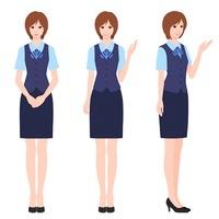事務の女性