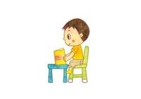 本を読んでる男の子