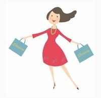 ショッピングバッグを両手に持っている女性 10485000002| 写真素材・ストックフォト・画像・イラスト素材|アマナイメージズ