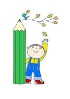 鉛筆の木と1 2 3