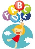 アルファベットの風船で空を飛ぶ女の子 10490000017| 写真素材・ストックフォト・画像・イラスト素材|アマナイメージズ