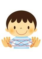 昔遊び(あやとり)をする子ども 10490000037| 写真素材・ストックフォト・画像・イラスト素材|アマナイメージズ