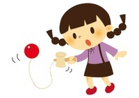 昔あそび(けん玉)をする子ども 10490000039| 写真素材・ストックフォト・画像・イラスト素材|アマナイメージズ