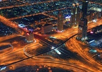 ブルジュ・ハリファからの夜景