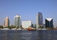 ドバイの旧市街の超高層ビル群