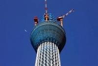 東京スカイツリーの展望台から上部分