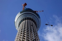 東京スカイツリーの先端の望遠