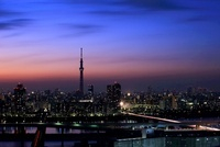 船堀より望む東京スカイツリーの夜景