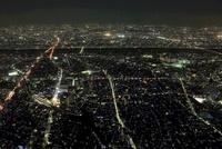 東京スカイツリーの天望回廊から東側の夜景