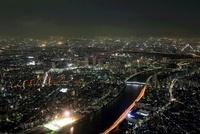 東京スカイツリーの天望回廊から北側(南千住・北千住)の夜景
