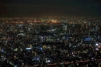 東京スカイツリーの天望回廊から南側の夜景