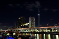 駒形橋より望む一時的に消灯した東京スカイツリー