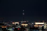 六本木ヒルズより望む一時的に消灯した東京スカイツリー