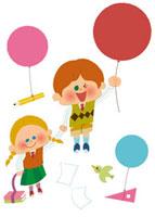 風船を持つ子ども