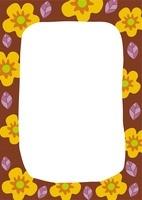 黄色い花のフレーム