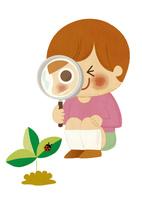 虫メガネ 10494000194| 写真素材・ストックフォト・画像・イラスト素材|アマナイメージズ